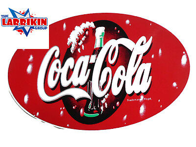 New Coca Cola Stickers 135mm X 85mm Oval