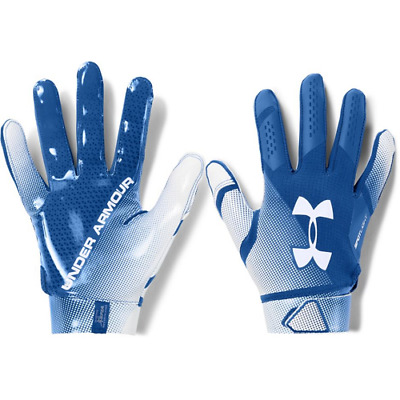 fa46f658e2f59 Under Armour Spotlight Men's Football Gloves Size XL, Blue White Glue Grip  S13