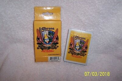 Vintage 2004 Procermex CORONA BEER/Miles Away From Ordinary PLAYING CARDS ~ MIB