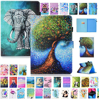 For iPad 9.7 2017 /Air1 2 Magnetic Patterned Smart Leather Flip Case Stand Cover