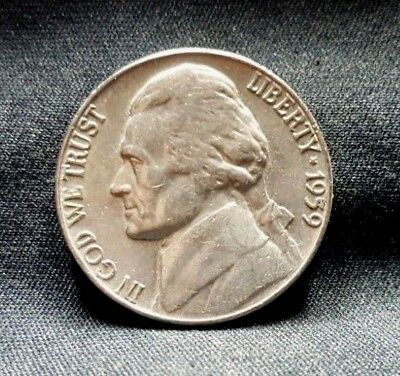 1959 P Jefferson Nickel, Lightly Circulated, Mintage of 27 Million, Free Ship
