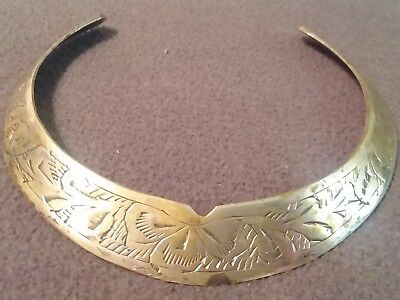 Vintage Silver Plated Over Brass Choker. 60s.