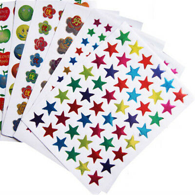 10pcs Notebook Stickers Funny Paper Lable Classic Laptop Sticker Kids Gift Toy_-