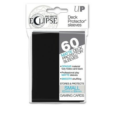 Ultra PRO Eclipse SMALL Black Pro-Matte Deck Protector Sleeves Card 60ct 62x89mm
