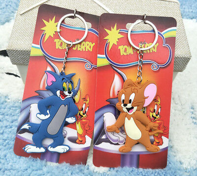 TOM and jerry anime key chain pendant key chains figure keyring anime new