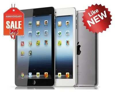 Apple iPad Mini 1st WiFi, GSM Unlocked I 16GB 32GB 64GB I Black Gray White (U)