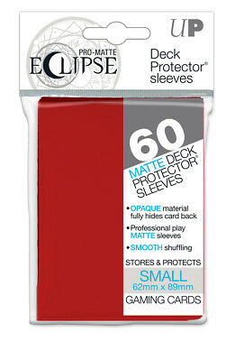 Ultra PRO Eclipse SMALL Red Matte Deck Protector Sleeves Card 60ct 62 x 89mm