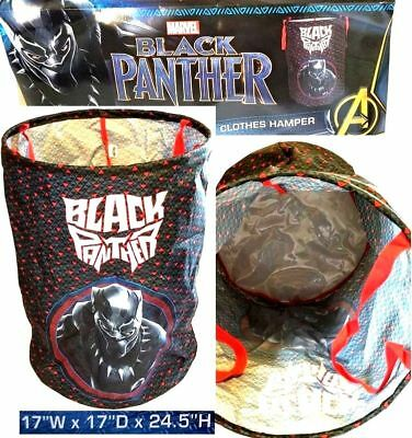 "Marvel BLACK PANTHER 17""x17"" 124.5"" Pop Up Clothes Hamper/Toys Storage - NWT"