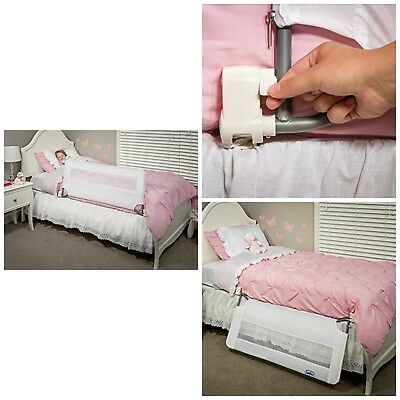 Regalo Swing Down Bedrail White Bed Rail Crib Toddler Child Safety Net Guard New