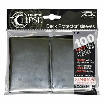 Ultra PRO Eclipse Deck Protector Sleeves Matte Black Standard 100ct 66 x 91mm