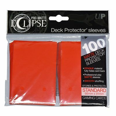 Ultra PRO Eclipse Deck Protector Sleeves Matte Red Standard 100ct 66 x 91mm
