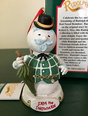 Sam the Snowman Ornament From Rudolph The Red-Nosed Reindeer Movie 1999 NIB