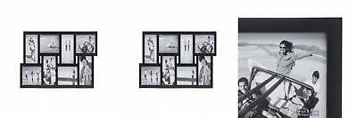 Malden 4x6 8-Opening Matted Collage Picture Frame, Displays Eight, Black