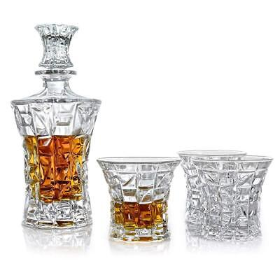 Vilmont Kepp Premium Whiskey Decanter Set, Lead Free Set of 4 Sophisticated...