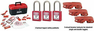 Master Lock Lockout Tagout Kit, Electrical Kit with Thermoplastic Safety...