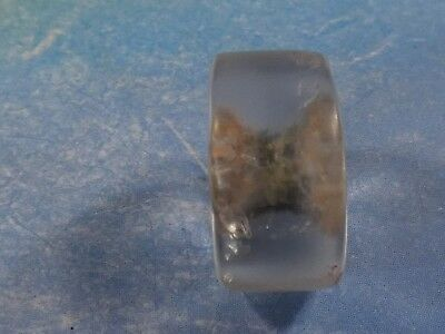 Ancient Neolithic  Sub Saharan Contoured Crystal Disc Bead 13 By 7 Mm
