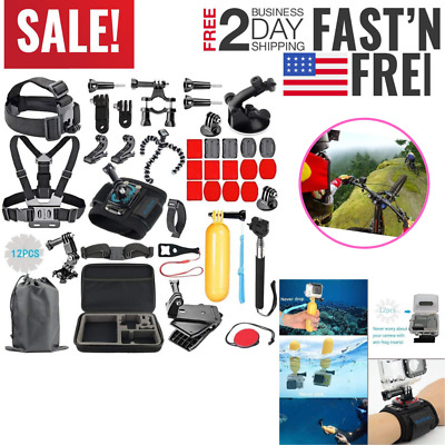 Accesories Set Kit For GoPro Hero 1 2 3 3 4 5 Camera Head Chest Mount Bike Sport