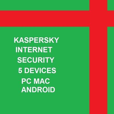 Kaspersky Internet Security 5PC 1YR Multi-Device 2019 Global Any  Countries