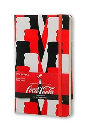 Moleskine Coca-Cola Notebook Large Plain Scarlet Red Hard Cover 5 X 8.25