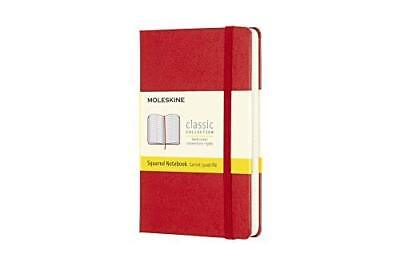 Moleskine Classic Notebook Pocket Squared Red Hard Cover 3.5 X 5.5 by Moleskine