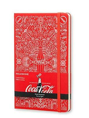 Moleskine Coca-Cola Notebook Large Ruled Scarlet Red Hard Cover 5 X 8.25