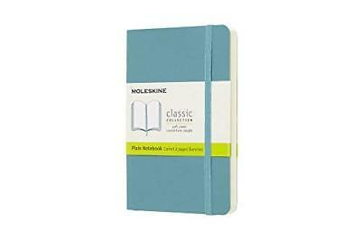 Moleskine Classic Notebook Pocket Plain Blue Reef Soft Cover 3.5 X 5.5