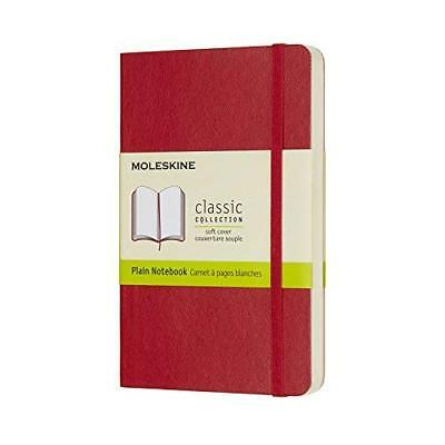 Moleskine Classic Notebook Pocket Plain Scarlet Red Soft Cover 3.5 X 5.5