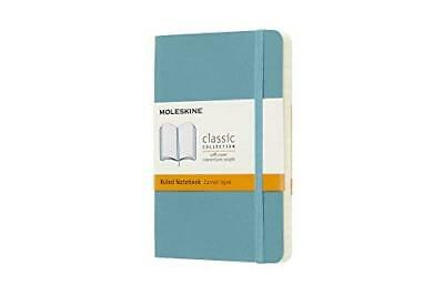 Moleskine Classic Notebook Pocket Ruled Blue Reef Soft Cover 3.5 X 5.5