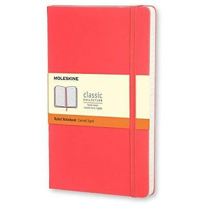 Moleskine Classic Notebook Pocket Ruled Geranium Red Hard Cover 3.5 X 5.5