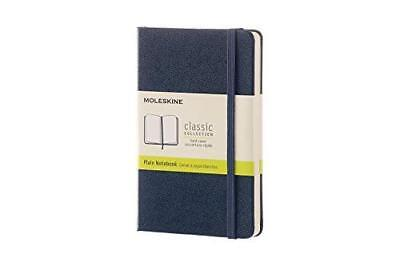 Moleskine Classic Notebook Pocket Plain Sapphire Blue Hard Cover 3.5 X 5.5