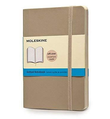 Moleskine Classic Colored Notebook, Pocket, Dotted, Khaki Beige, Soft Cover