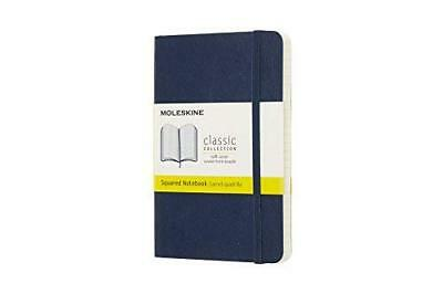 Moleskine Classic Notebook Pocket Squared Blue Sapphire Soft Cover 3.5 X 5.5