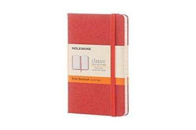 Moleskine Classic Notebook Pocket Ruled Coral Orange Hard Cover 3.5 X 5.5