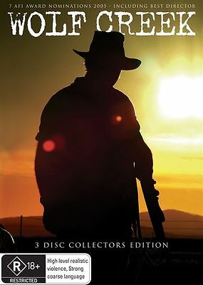 Wolf Creek (DVD, 2011, 3-Disc Set) REGION-4- LIKE NEW-FREE POST WITHIN AUSTRALIA