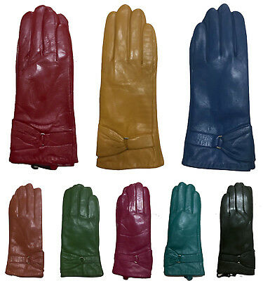 Ladies Soft Real Leather Gloves Women Winter Fully Lined Winter Dress Gloves