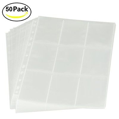 RIOMIO 450 Pockets Trading Card Sleeves Storage Wallets Album Pages, Transparent