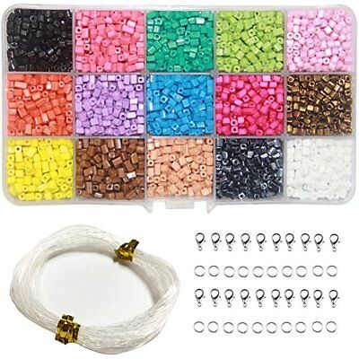 Ewparts 15 in 1 Mini DIY Beads for Children, Acrylic Beads for jewelry making, B