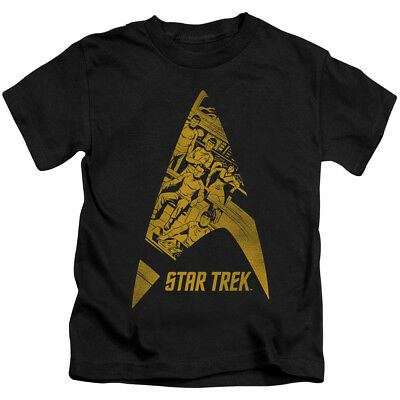 Star Trek Comics Crew in DELTA Vintage Style T-Shirt KIDS Sizes 4, 5/6, 7