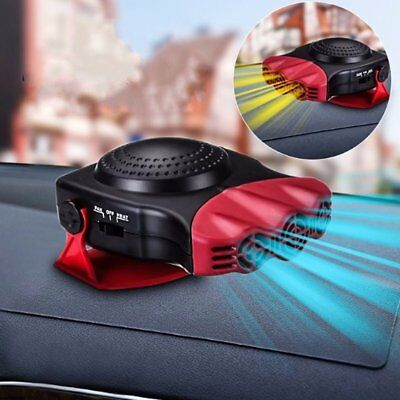 2 In 1 12V 150W Auto Car Heater Portable Heating Fan With Swing-out Handle @Q