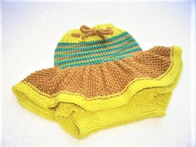 Diaper Cover Hand Knit Handmade Baby Wool Diaper Cover-Skirt size Small