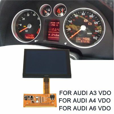 LCD Display Screen Cluster Speedometer For Audi A4 A6 TT 8N Series Jaeger @Q