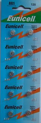 10 EUNICELL AG1, SR621SW Button Coin Cell Battery Batteries PX1
