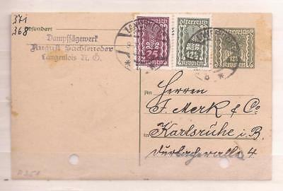 Austria  -  Very Old Stationary Postcard With Extra Stamps