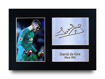David de Gea Gift Signed A4 Printed Autograph Print Man Utd Gifts Photo Picture