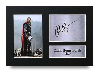 Chris Hemsworth Gift Signed A4 Printed Autograph Print Thor Gifts Photo Picture