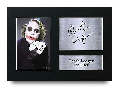 Heath Ledger Gift Signed A4 Printed Autograph Print The Joker Batman Gifts Photo