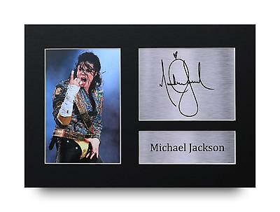 Michael Jackson Gift Signed A4 Printed Autograph Print Music Gifts Photo Picture