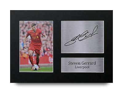 Steven Gerrard Gift Signed A4 Printed Autograph Print Liverpool Gifts Photo