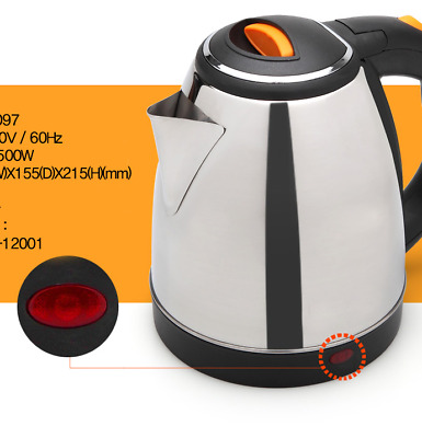[DaeWoong] Tea Kettle Stainless Steal 1.8L Electric Boiler Coffee Tea