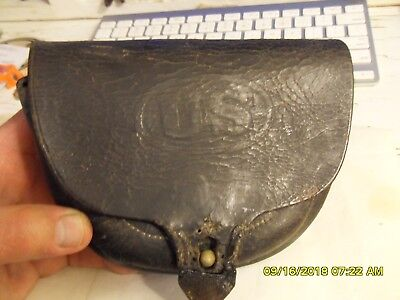 Original Civil War/Indian War era US leather cartridge box